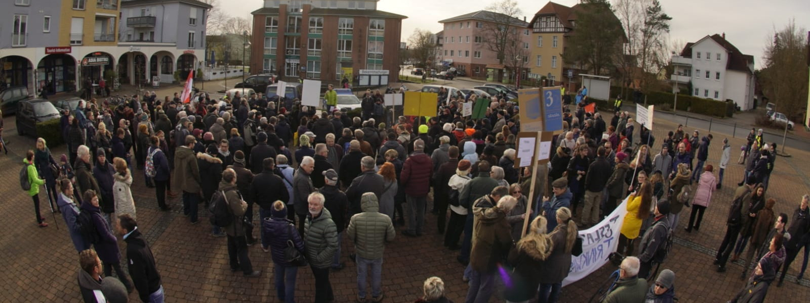 Demonstration in Grünheide