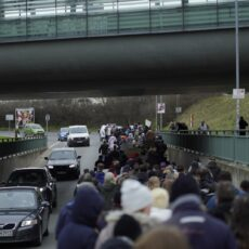 250 Menschen demonstrieren  in Erkner