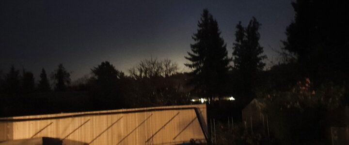 Blick aus Karutzhöhe Erkner Richtung Tesla Baugelände